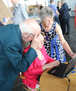 Launch guests 'having a go' with the new GPC Online.