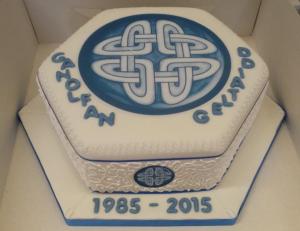 The celebratory cake