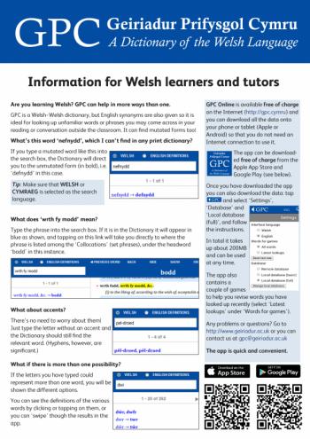 GPC leaflet for Welsh learners